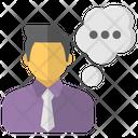 Talking Person Speaker Icon