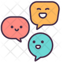 Talking Friends Coversation Icon