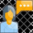 Man Person Talking Icon