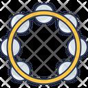 Tambourine Percussion Shaker Icon