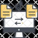 Tampering File Transfer File Hacking Icon