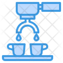 Tamping Coffee Maker Hot Drink Icon