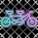 Tandem Bicycle Romantic Icon