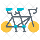 Tandem Bicycle Bicycling Icon
