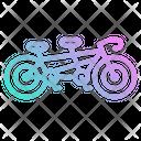 Tendem Bicycle Bike Icon