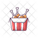 Fried Chicken Fast Icon