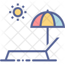 Tanning Vacation Umbrella Icon