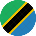 Tanzania Flag World Icon
