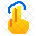 Tap Two Finger Icon