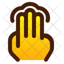 Tap Three Finger Icon