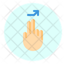 Tap Right Finger Icon