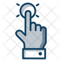 Tap Finger Tap Hand Gesture Icon