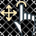 Tap Move Hand Icon