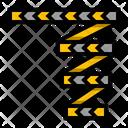 Tape Caution Barricade Icon