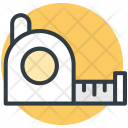 Tape Measure Industrial Icon