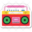 Stereo Boombox Cassette Icon