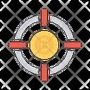 Target Focus Bitcoin Icon