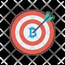 Target Bitcoin Goal Icon