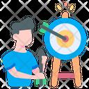 Target Goal Darts Icon