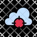 Cloud Target Focus Icon