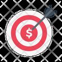 Target Goal Dollar Icon