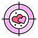 Target Aim Romantic Icon
