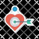 Target Heart Goal Icon