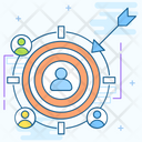 Target Audience Target Customers Customer Segmentation Icon