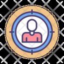 Target Audience Target Employee Target User Icon