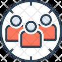 Target Audience Focus Customer Icon