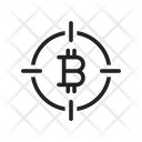 Target Bitcoin Crypto Icon
