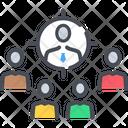 Target Customer Teamwork Marketing Icon