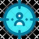 Target Customer Focus Client Icon