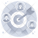 Headhunting Target Clients Target Customers Icon
