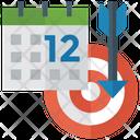 Target Deadline Deadline Infographic Strategy Icon