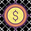 Target Dollar Finance Target Dollar Icon