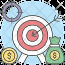 Business Goal Target Finance Money Aim Icon