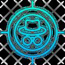 Target hacker Icon