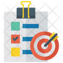 Target List Objective Goal Icon