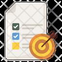Task List Target List Aim List Icon