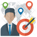 Target Location Project Management Target Person Icon