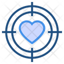 Target Love Icon
