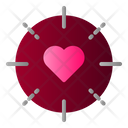 Target Love Heart Icon