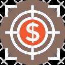 Target Dollar Marketing Icon