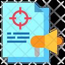 Megaphone File Target Icon