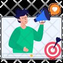 Online Marketing Target Marketing Digital Marketing Icon