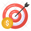 Target Business Target Money Aim Money Icon