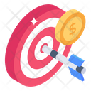 Hit Money Target Money Target Business Icon