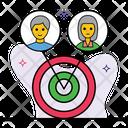 Targeting Audience Targeting Aim Icon