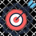 Targeting Process Aim Dartboard Icon